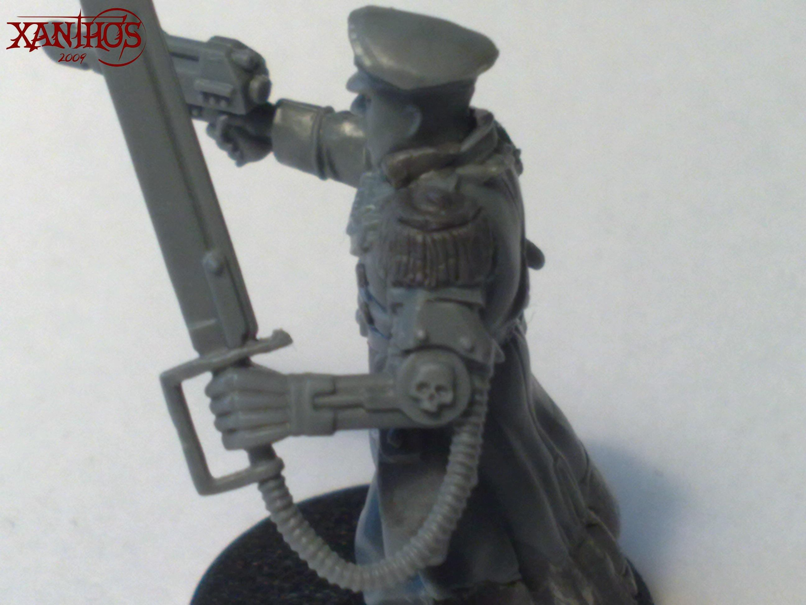 Cadians, Commissar, Imperial Guard, Officer, Power Sword