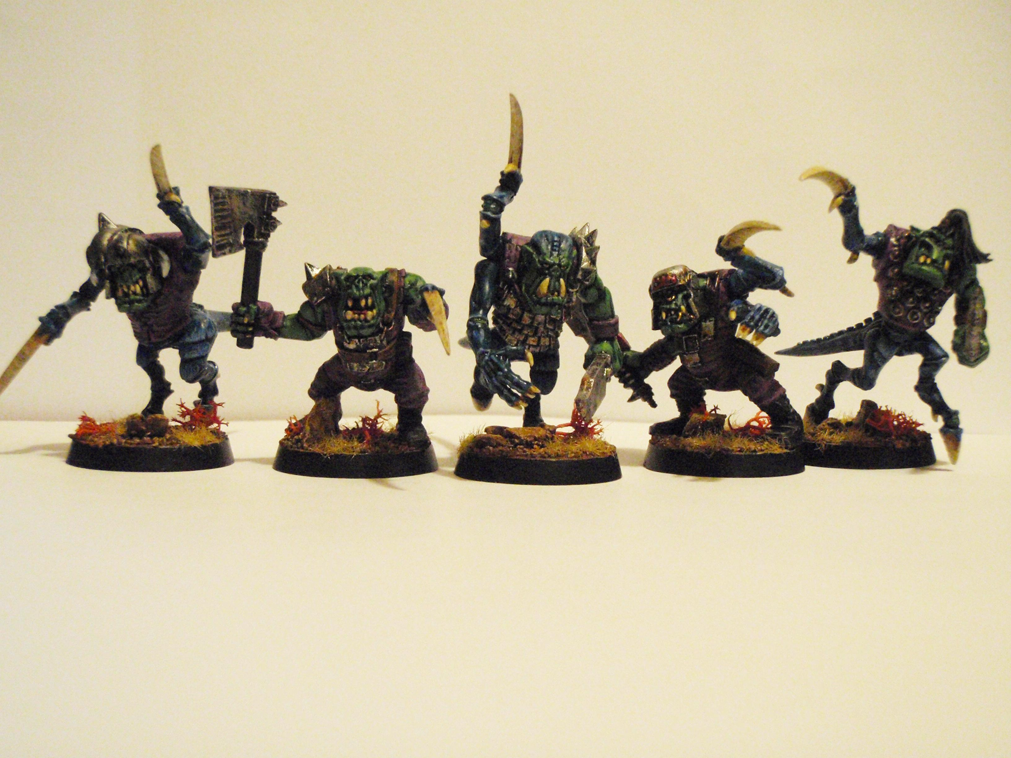 Orks, All 5 new Ornery Grunts