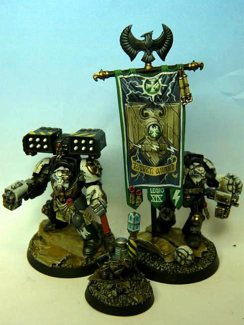 Banner, Raven Guard, Space Marines, Terminator Armor