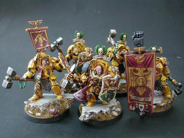 Imperial Fists, Space Marines, Terminator Armor, Warhammer 40,000
