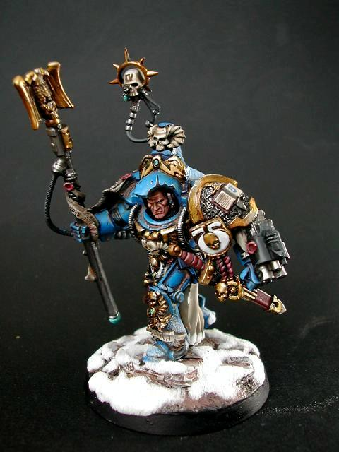 Librarian, Terminator Armor, Ultramarines, Warhammer 40,000