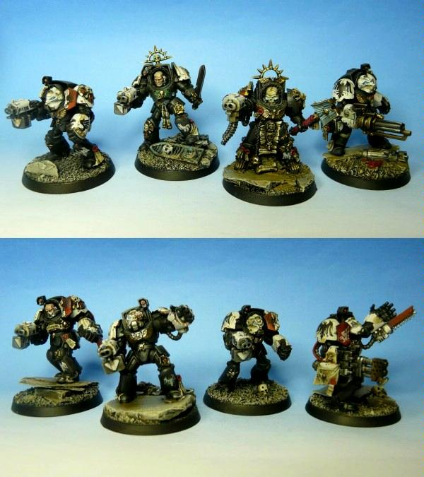 Chaplain, Raven Guard, Space Marines, Terminator Armor, Warhammer 40,000