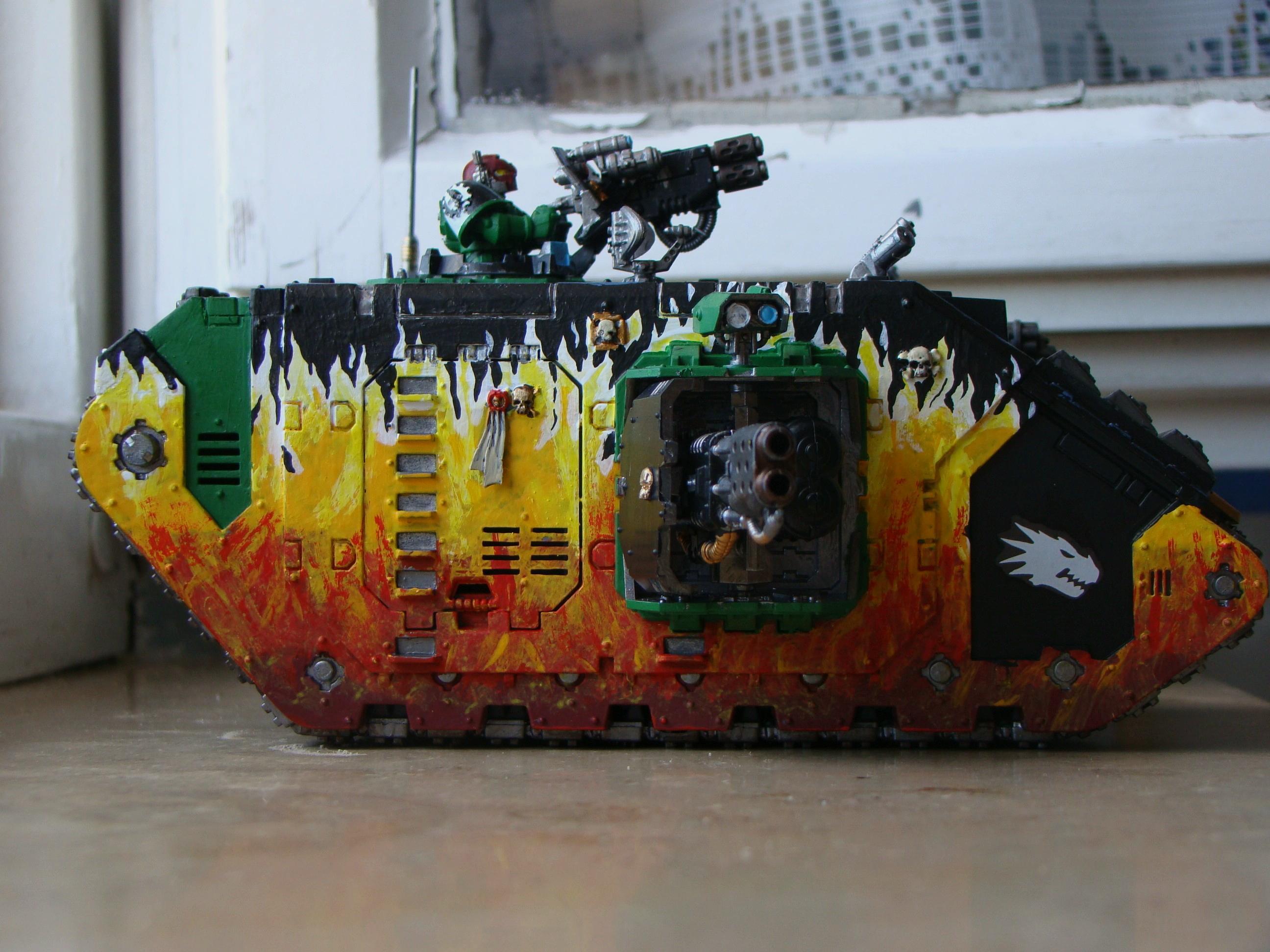 Land Raider, Salamanders, Space Marines, Warhammer 40,000