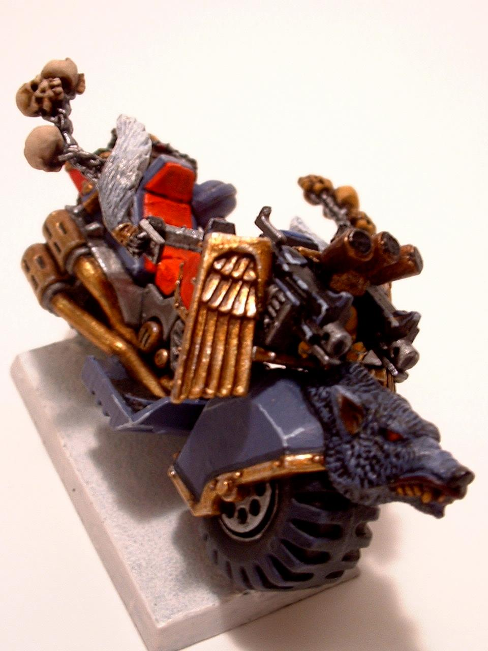 Bike, Space Marines, Space Wolves, Wolf Guard Battle Leader
