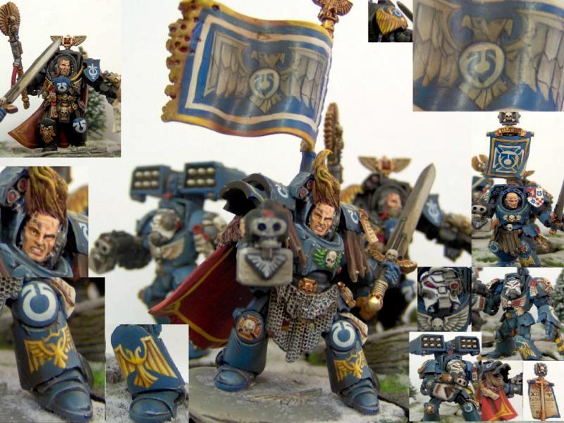 Command Squad, Horus Heresy, Space Marines, Terminator Armor, Ultramarines