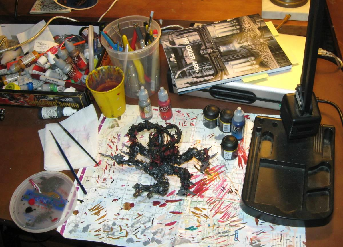 Soul Grinder II: Painting has begun