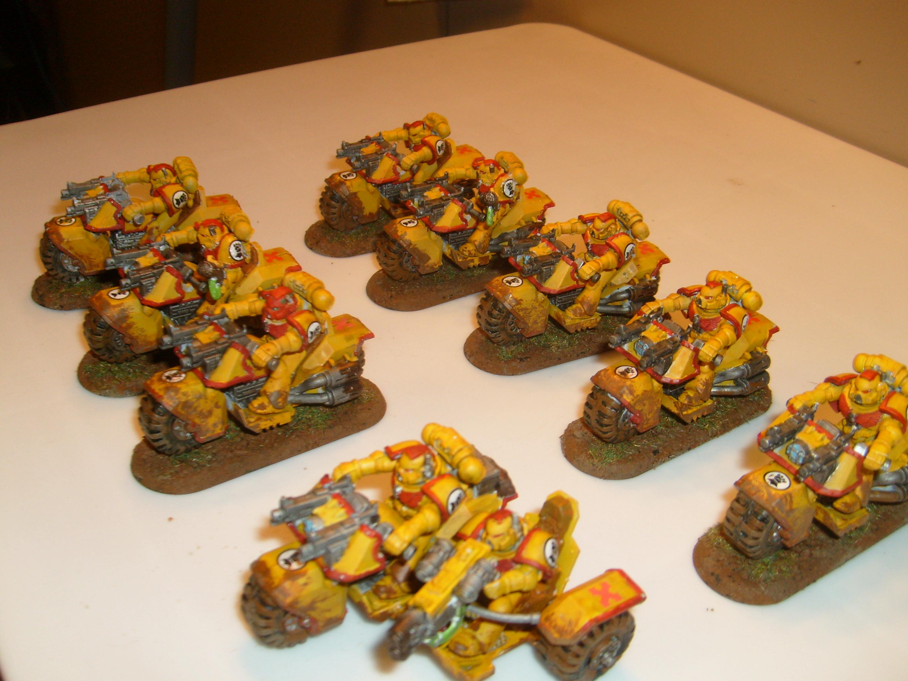 Bike, Imperial Fists, Space Marines, Warhammer 40,000