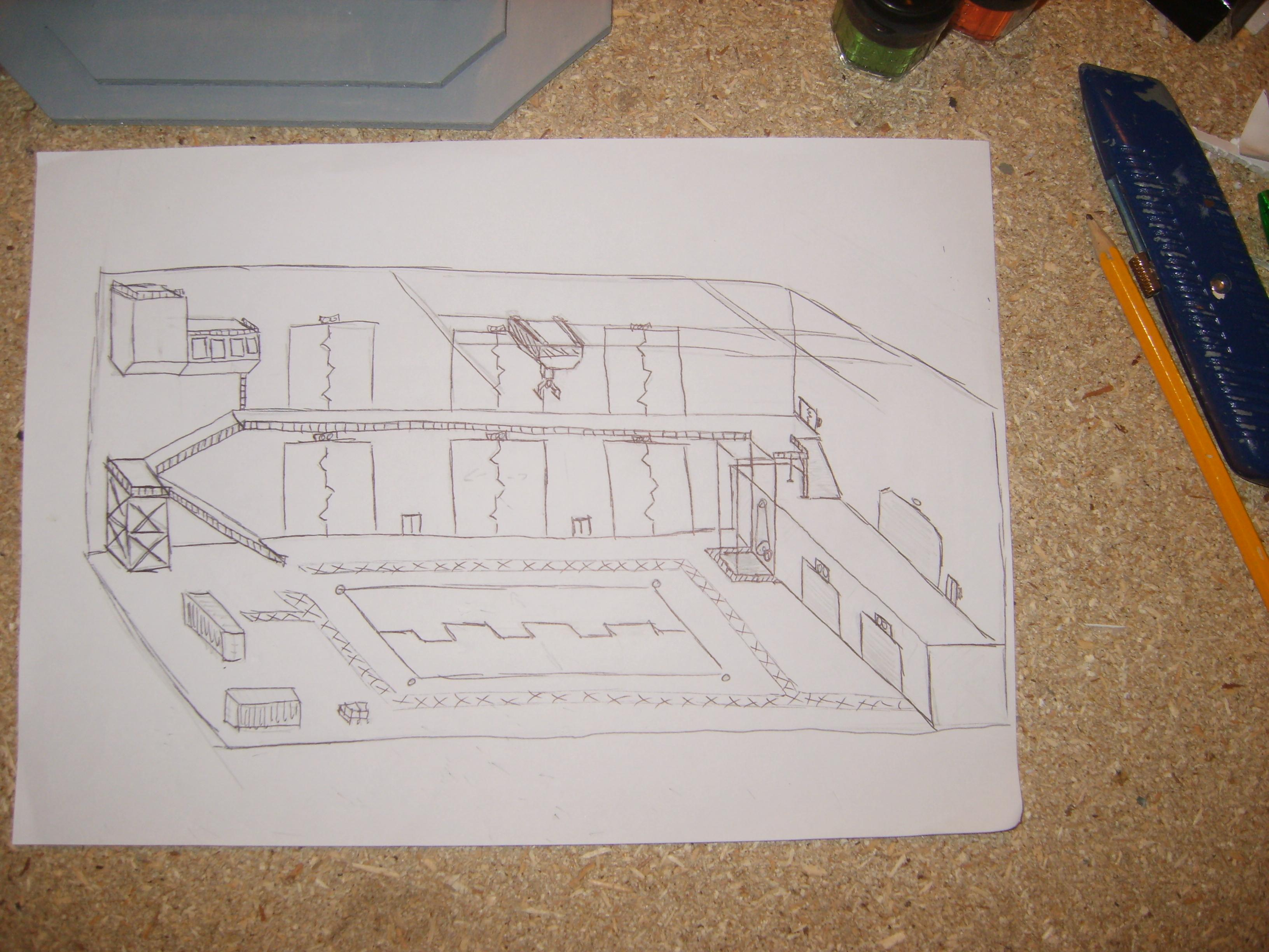 crude sketch of the cargo hold