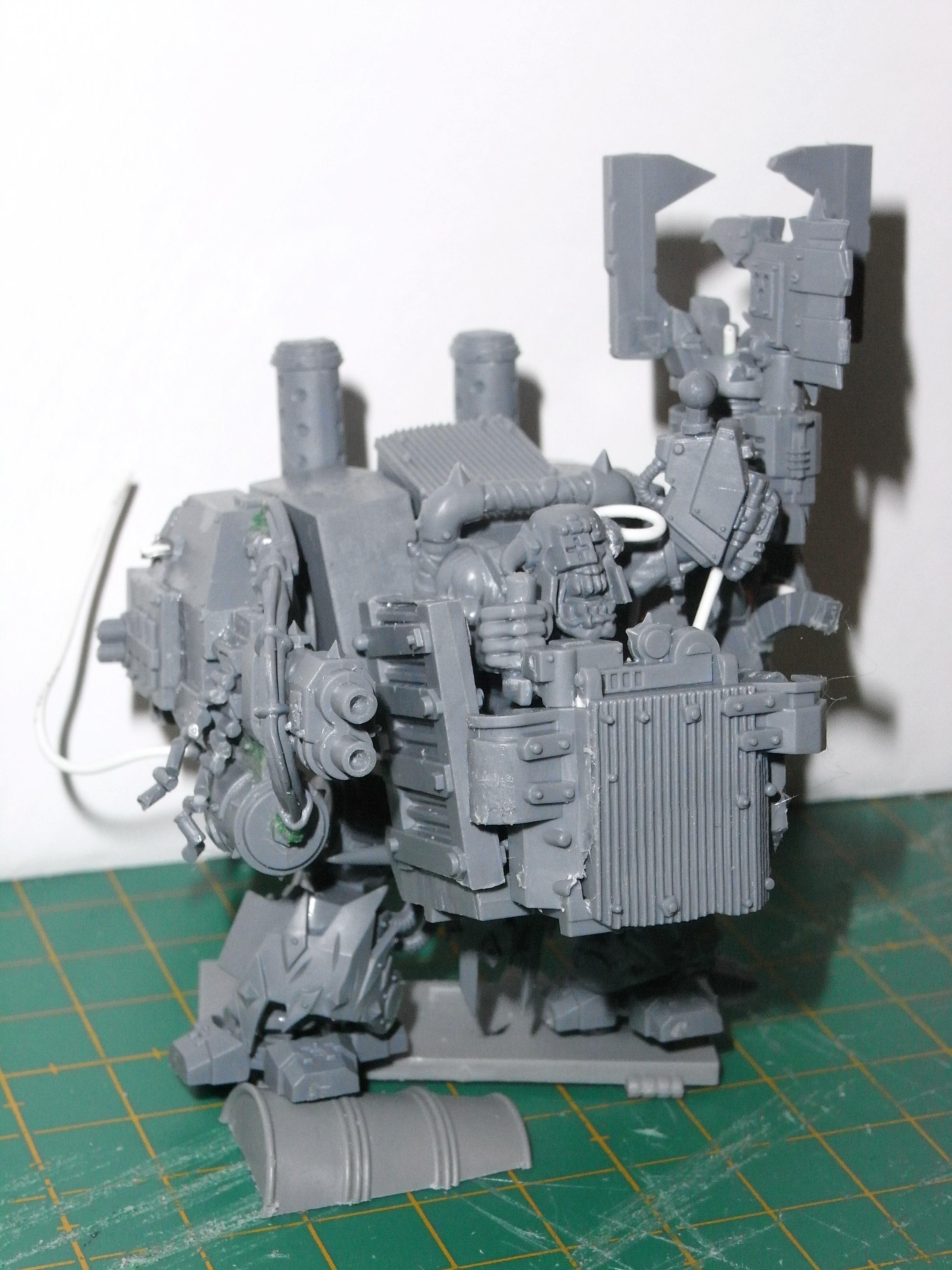 Assault On Black Reach, Conversion, Deff Dread, Dreadnought, Orks, Work In Progress