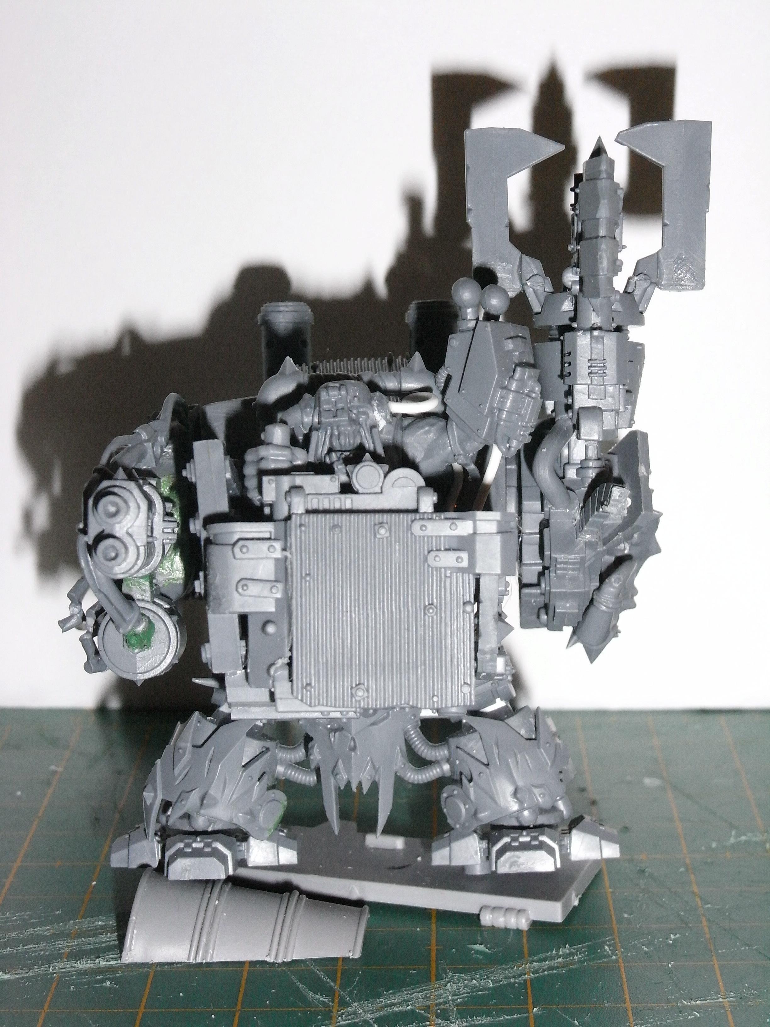Assault On Black Reach, Conversion, Deff Dread, Dreadnought, Orks, Work In Progress