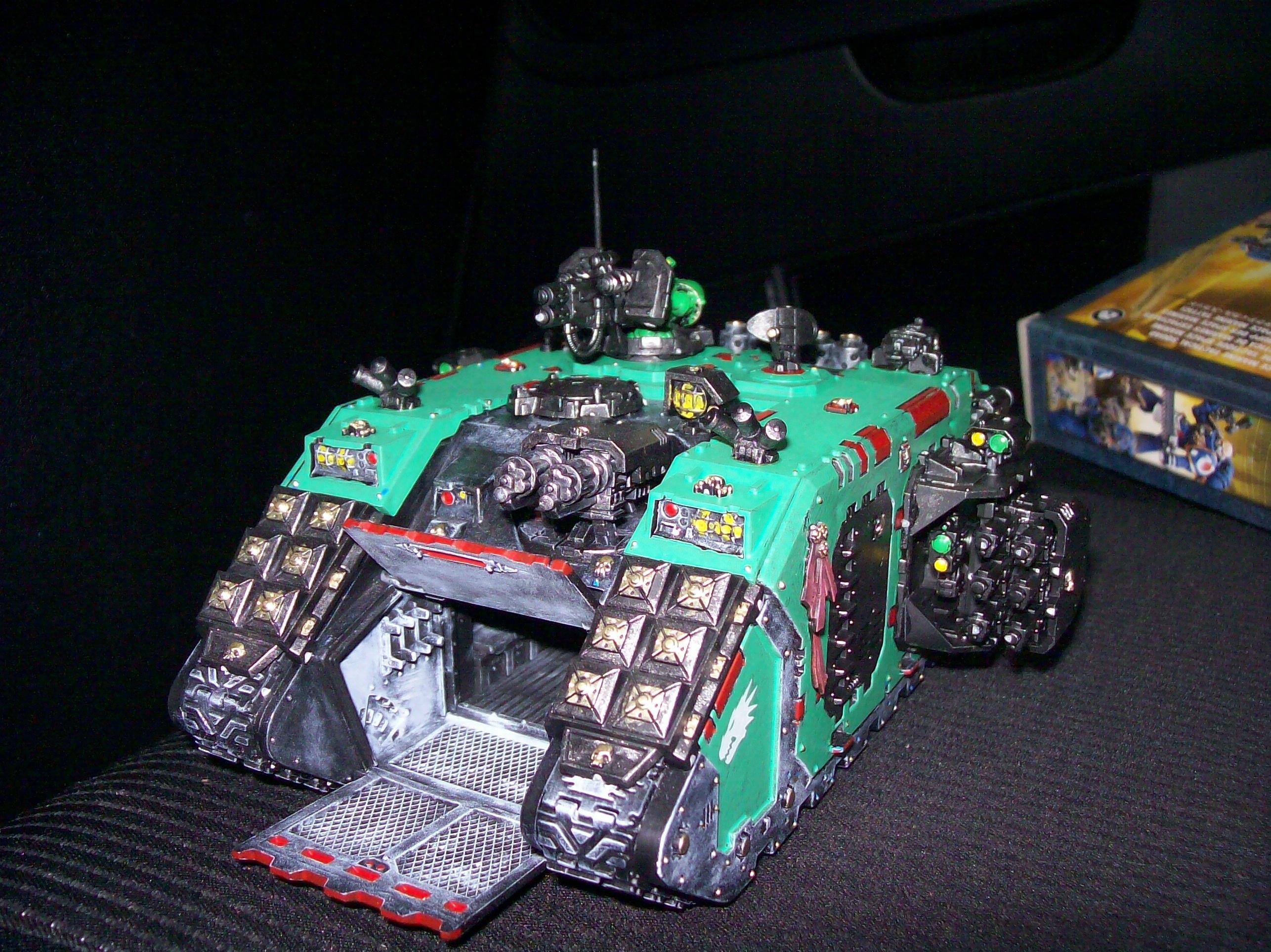 Assault Hatch, Front, Land Raider, Salamanders, Tank