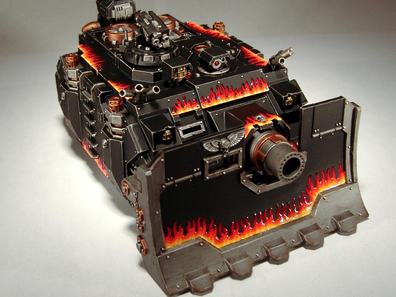 Flames, Heavy Support, Space Marines, Tank, Vindicator, Warhammer 40,000