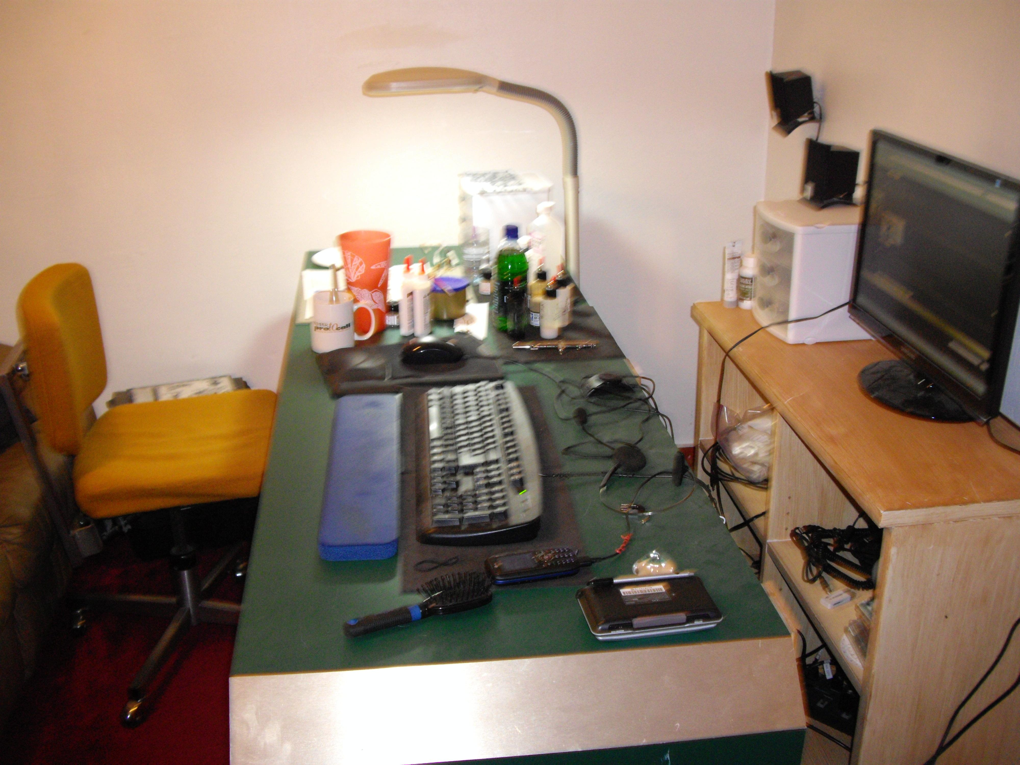 Hobby Area, my desk