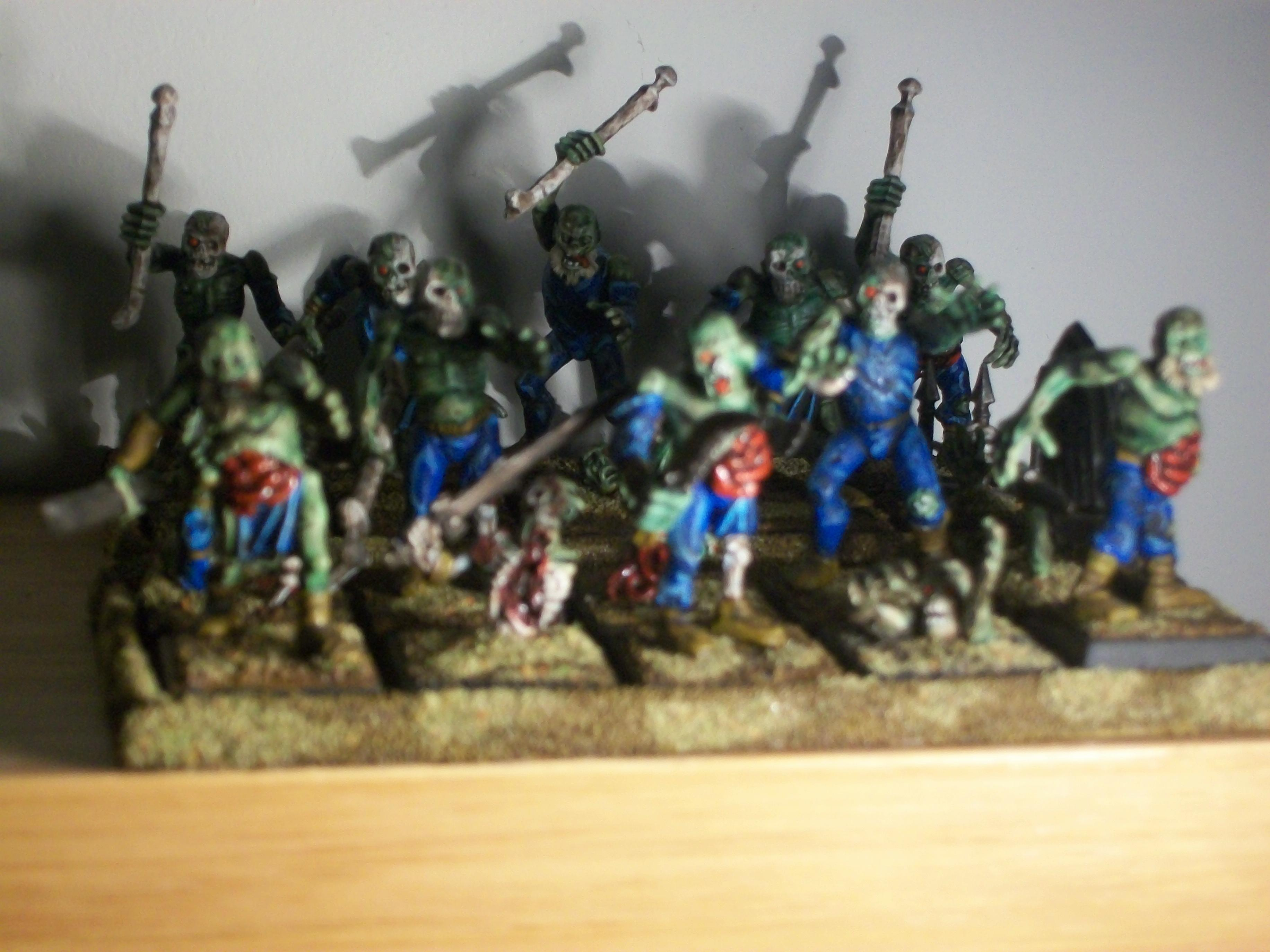 Zombies lurking slightly out of focus