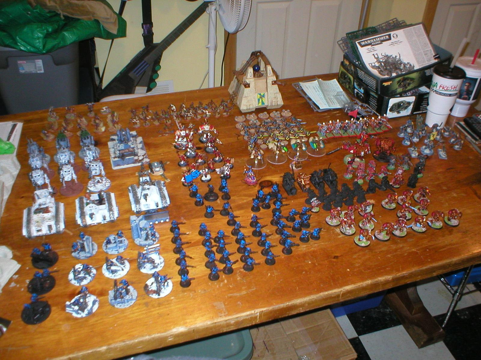 Blood Angels, Imperial Guard, Kroot, Necrons, Space Marines, Space Wolves