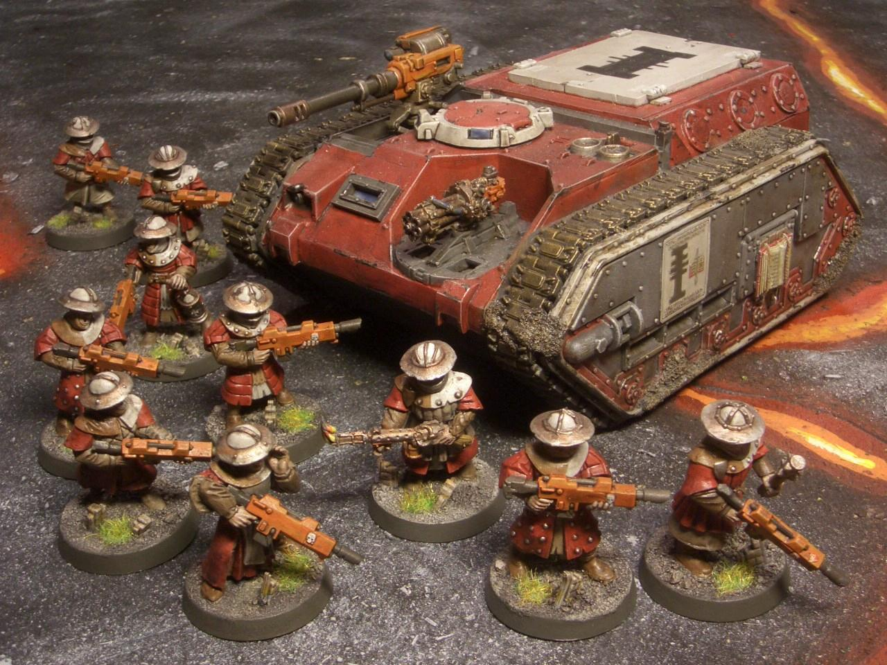Conversion, Imperial Guard, Inquisition, Lava, Men-at-arms, Storm Troopers