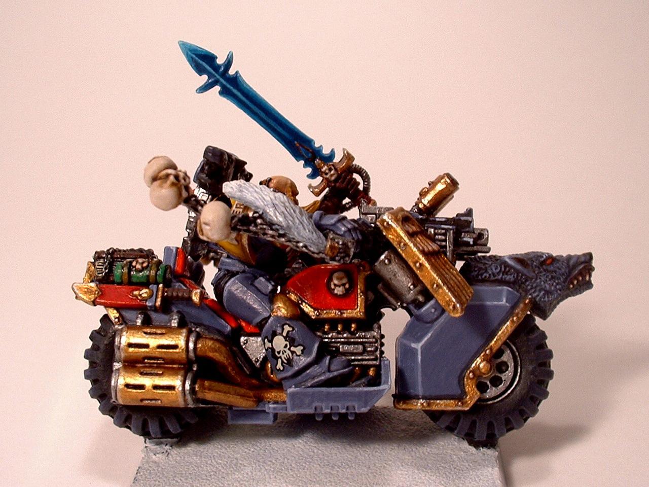 Blood Claw, Space Marine Bike, Space Wolves, Warhammer 40,000, Wolf Guard Battle Leader