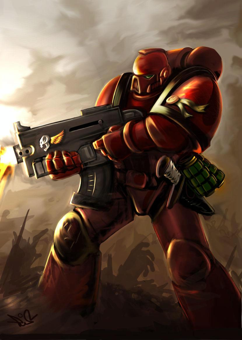 Artwork, Blood Angels, Pure Awesome, Space Marines
