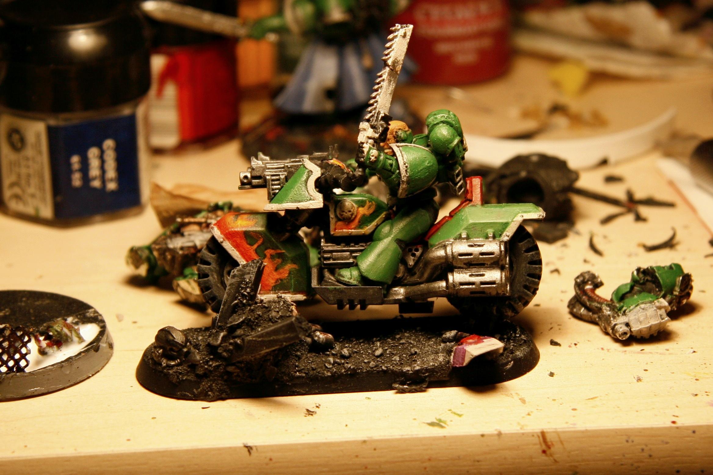 Bike, Gretar, Repainting, Salamanders, Sons Of Machiediel, Space Marines, Warhammer 40,000