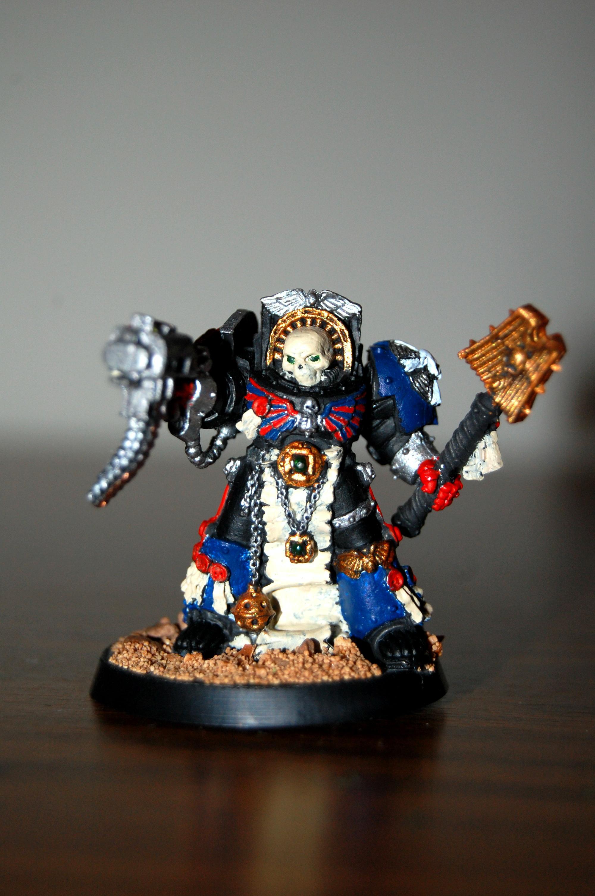 Chaplain, Space Marines, Terminator Armor, Warhammer 40,000
