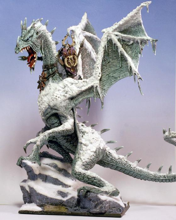 Chaos Lord, Chaos Warrior, Dragon, Warhammer Fantasy Battles