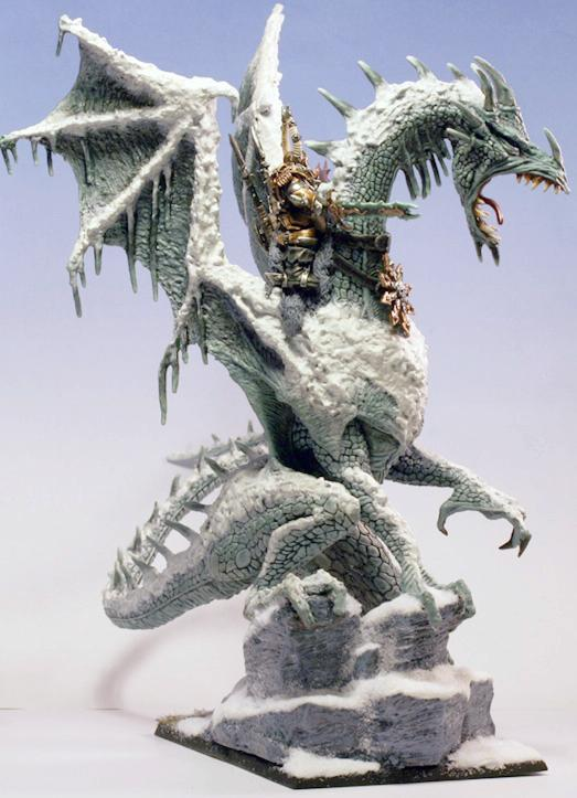 Chaos Warrior, Dragon, Snow, Warhammer Fantasy Battles