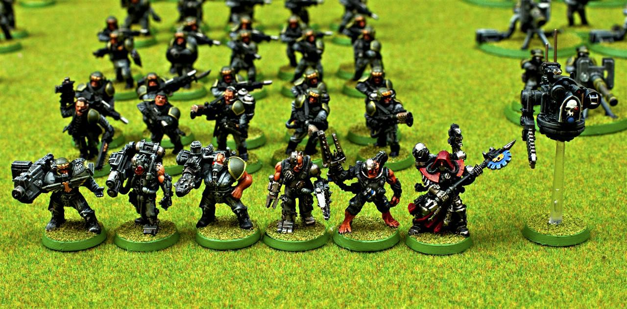 Combat Servitor, Guard, Imperial, Imperial Guard, Multimelta, Priest, Servitors, Techpriest, Techpriest Enginseer