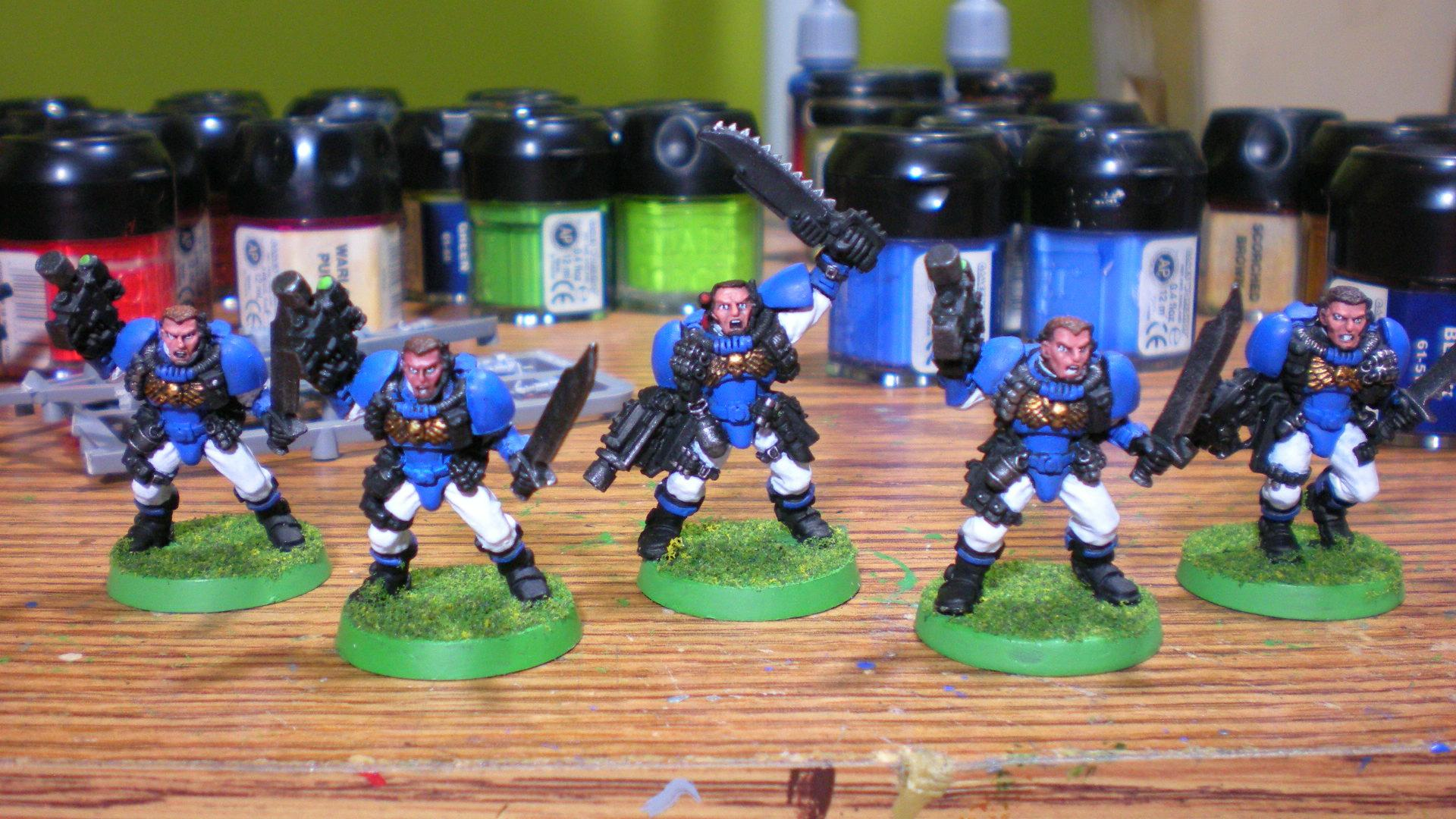 Out Of Production, Scouts, Squad, Ultramarines, Warhammer 40,000