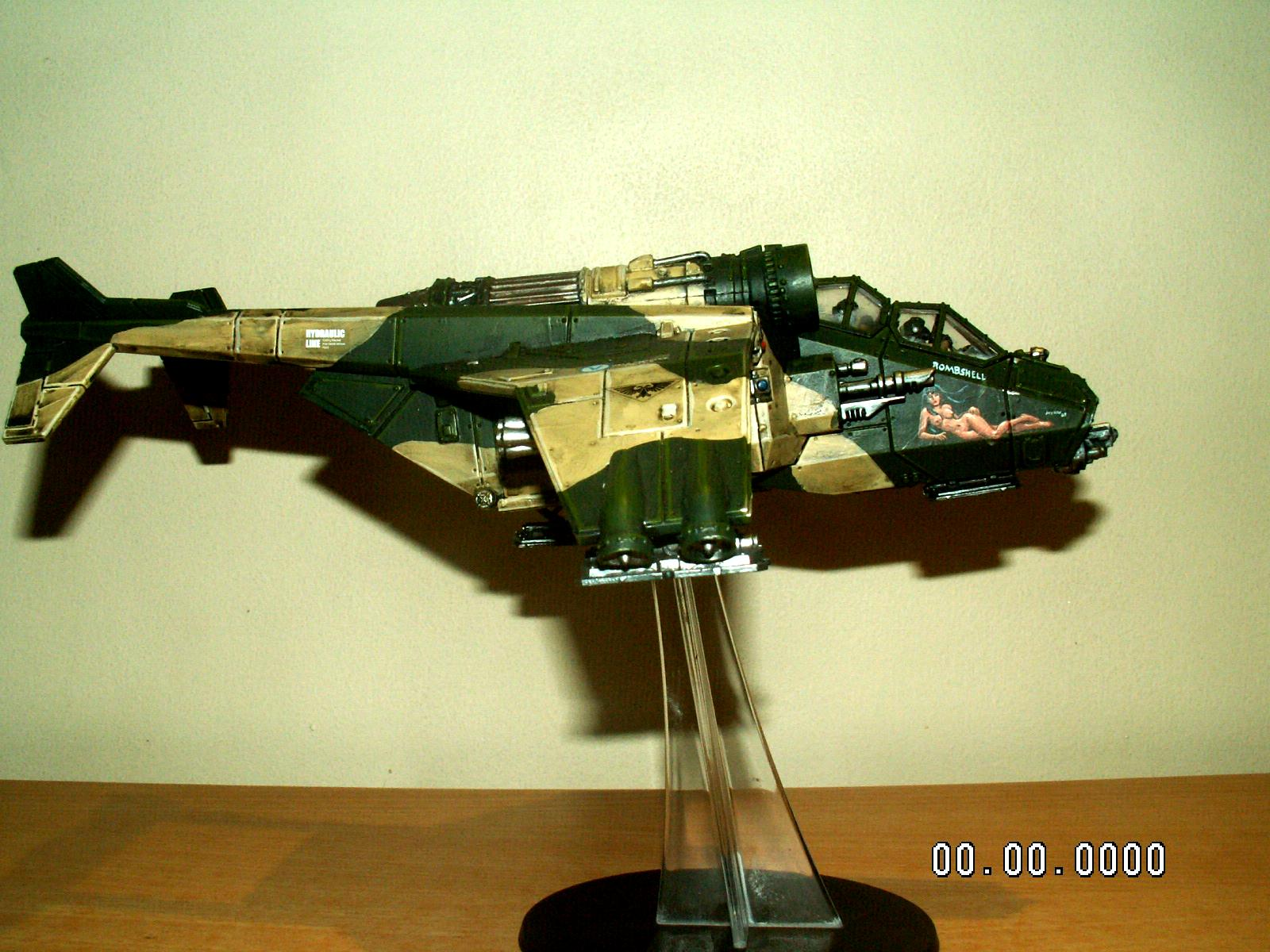 Camouflage, Freehand, Imperial Guard, Nose Art, Valkyrie, Warhammer 40,000