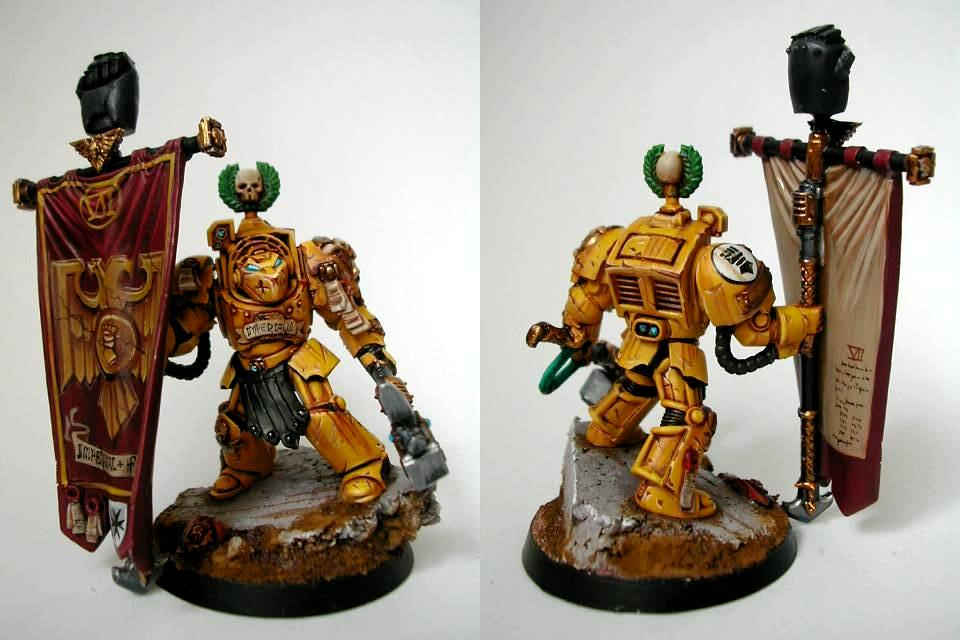 Banner, Freehand, Imperial Fists, Space Marines, Terminator Armor