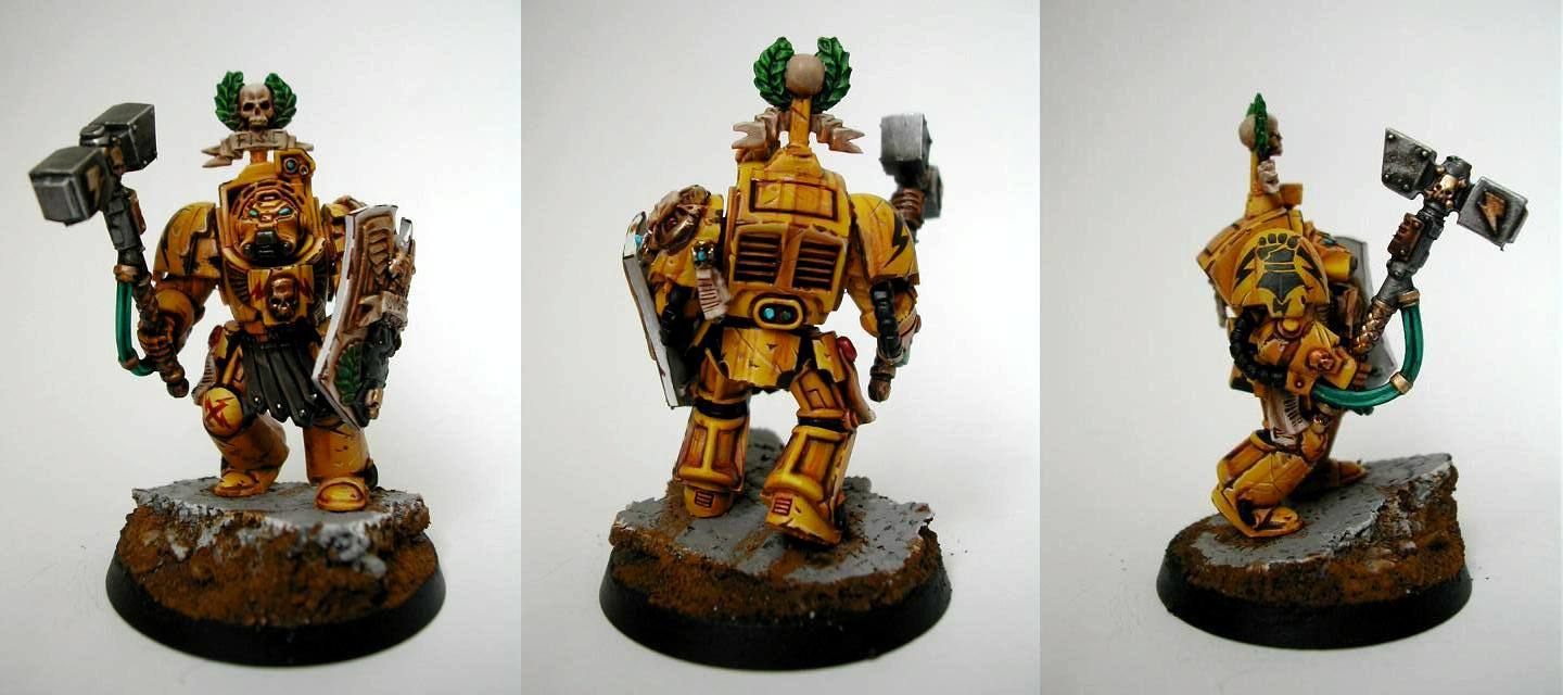 Elite, Imperial Fists, Space Marines, Terminator Armor, Warhammer 40,000, Weathered
