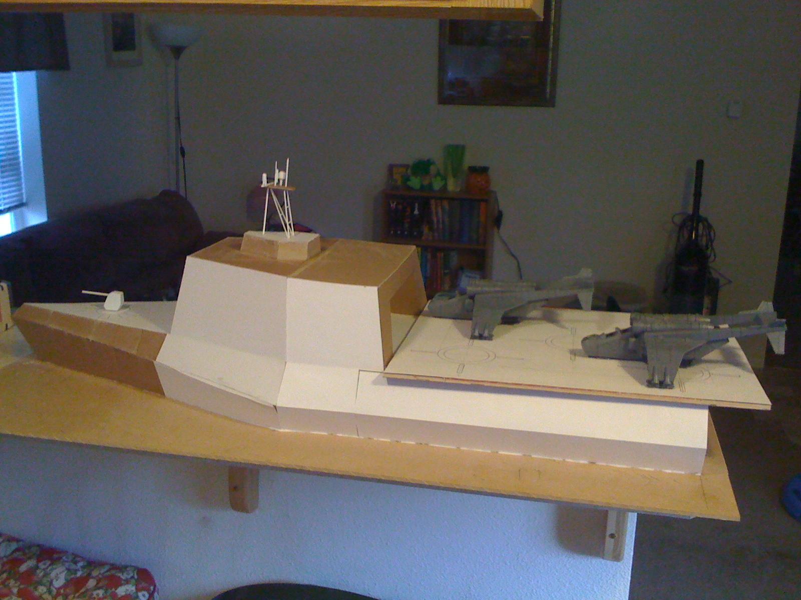 Aircraft Carrier, Boat, Built, Frigate, Guard, Imperial, Scratch, Ship, Warhammer 40,000, Work In Progress