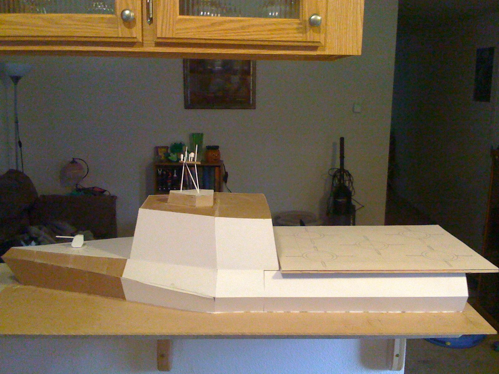 Boat, Built, Frigate, Guard, Imperial, Scratch, Ship, Warhammer 40,000, Work In Progress