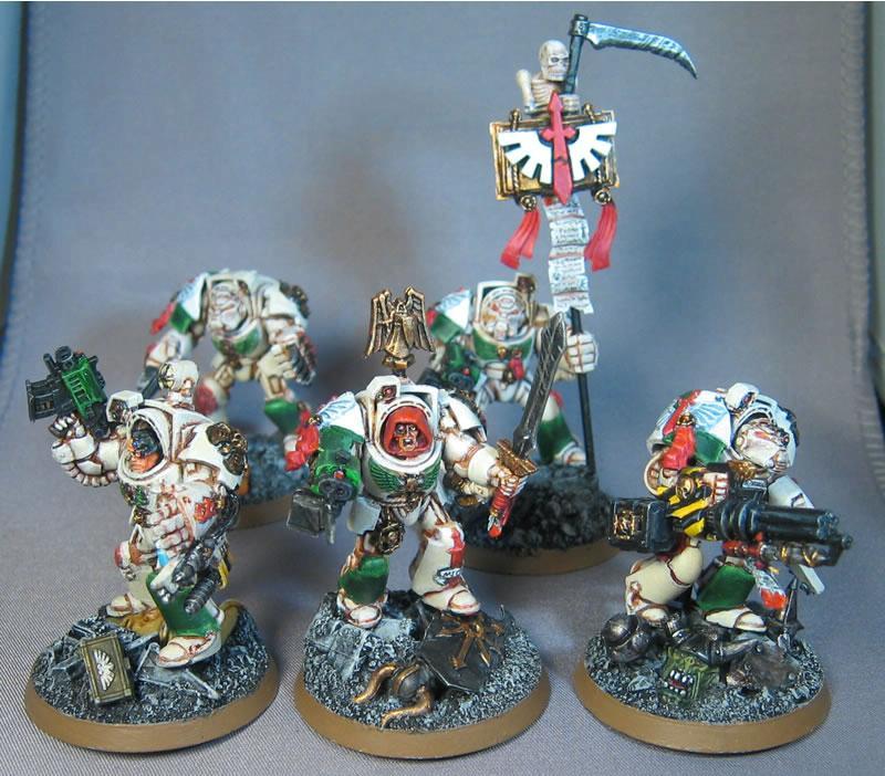 Conversion, Dark Angels, Deathwing, Painting, Space Marines, Terminator Armor, Warhammer 40,000