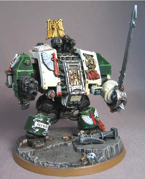 Conversion, Dark Angels, Deathwing, Dreadnought, Space Marines, Warhammer 40,000