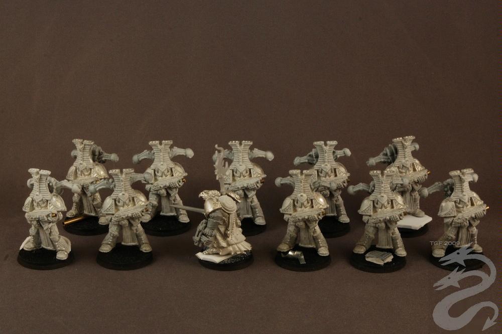 Chaos Space Marines, Cult Marines, Thousand Sons, Tzeentch, Warhammer 40,000, Work In Progress