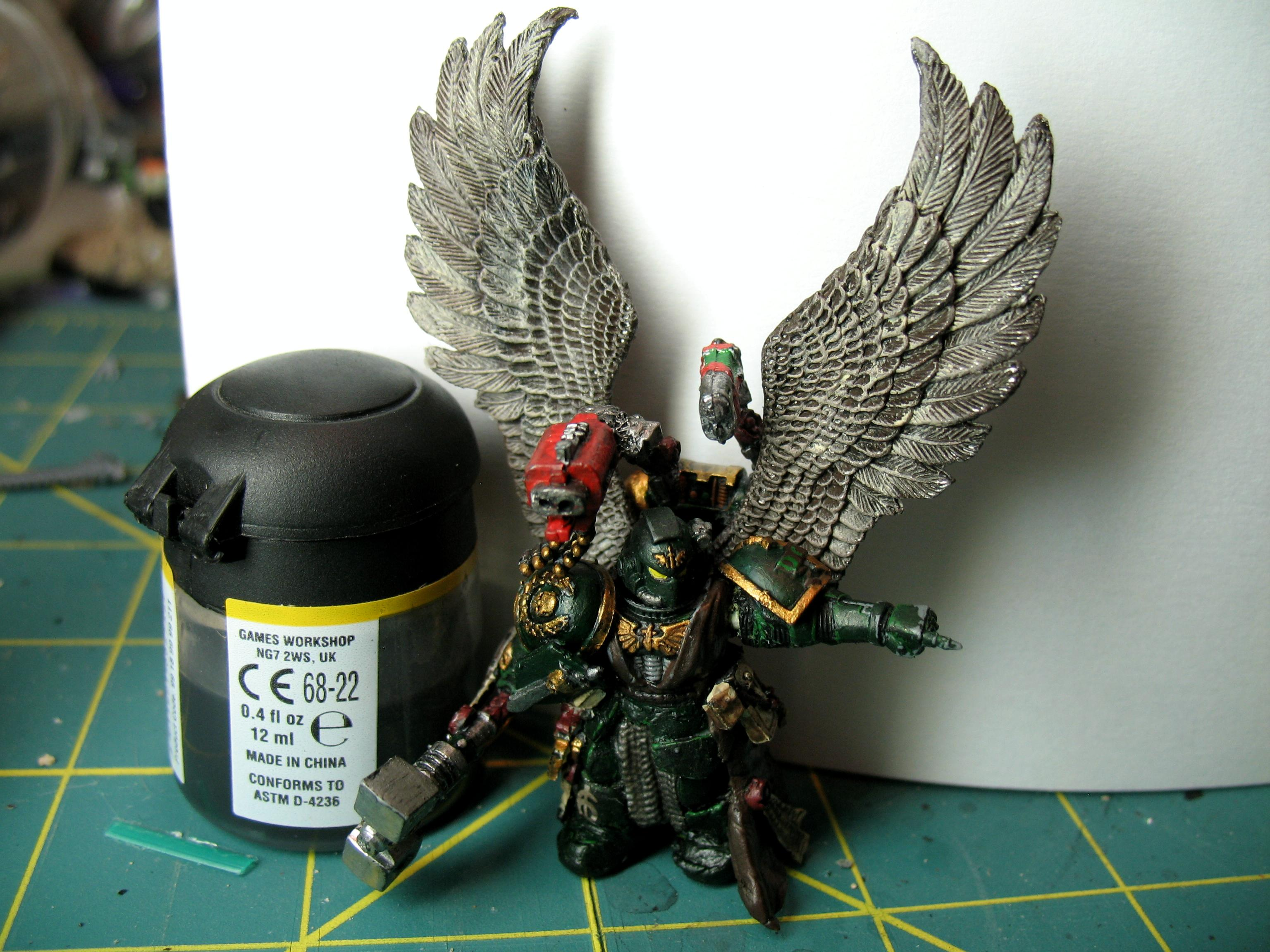 Command Squad Warhammer 40k, Conversion, Dark Angel 6th Company Master, Dark Angel Command Squad, Dark Angels, Warhammer 40,000