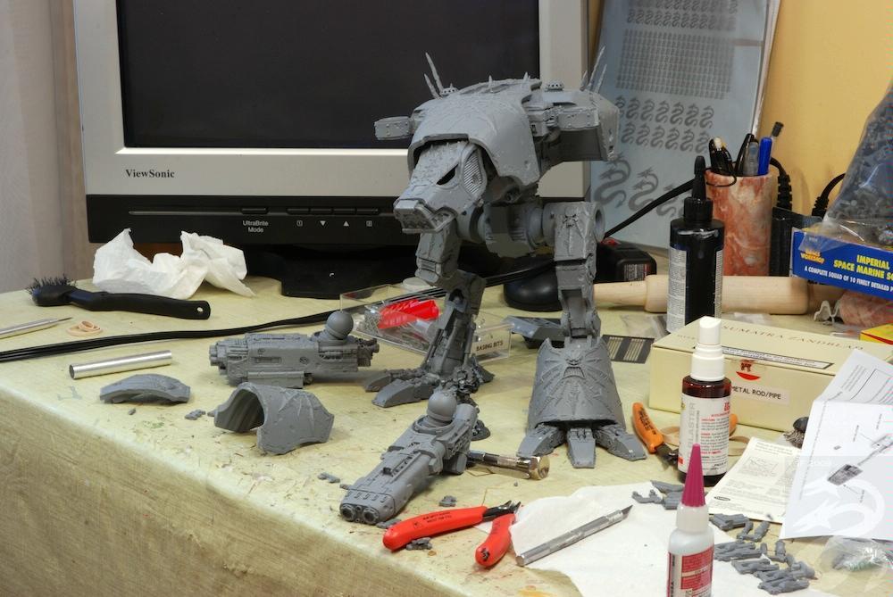 Iron Hydras Warhound Titan WIP