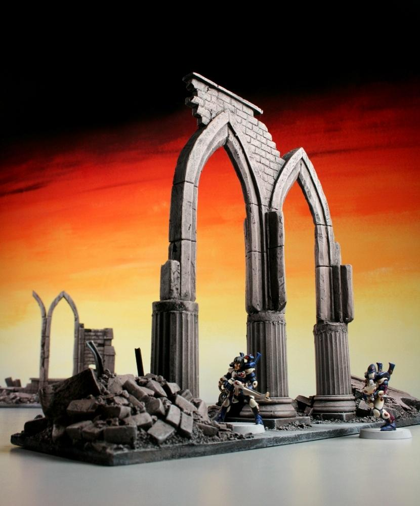 Eldar, Gothic, Ruins, Scratch Build, Terrain