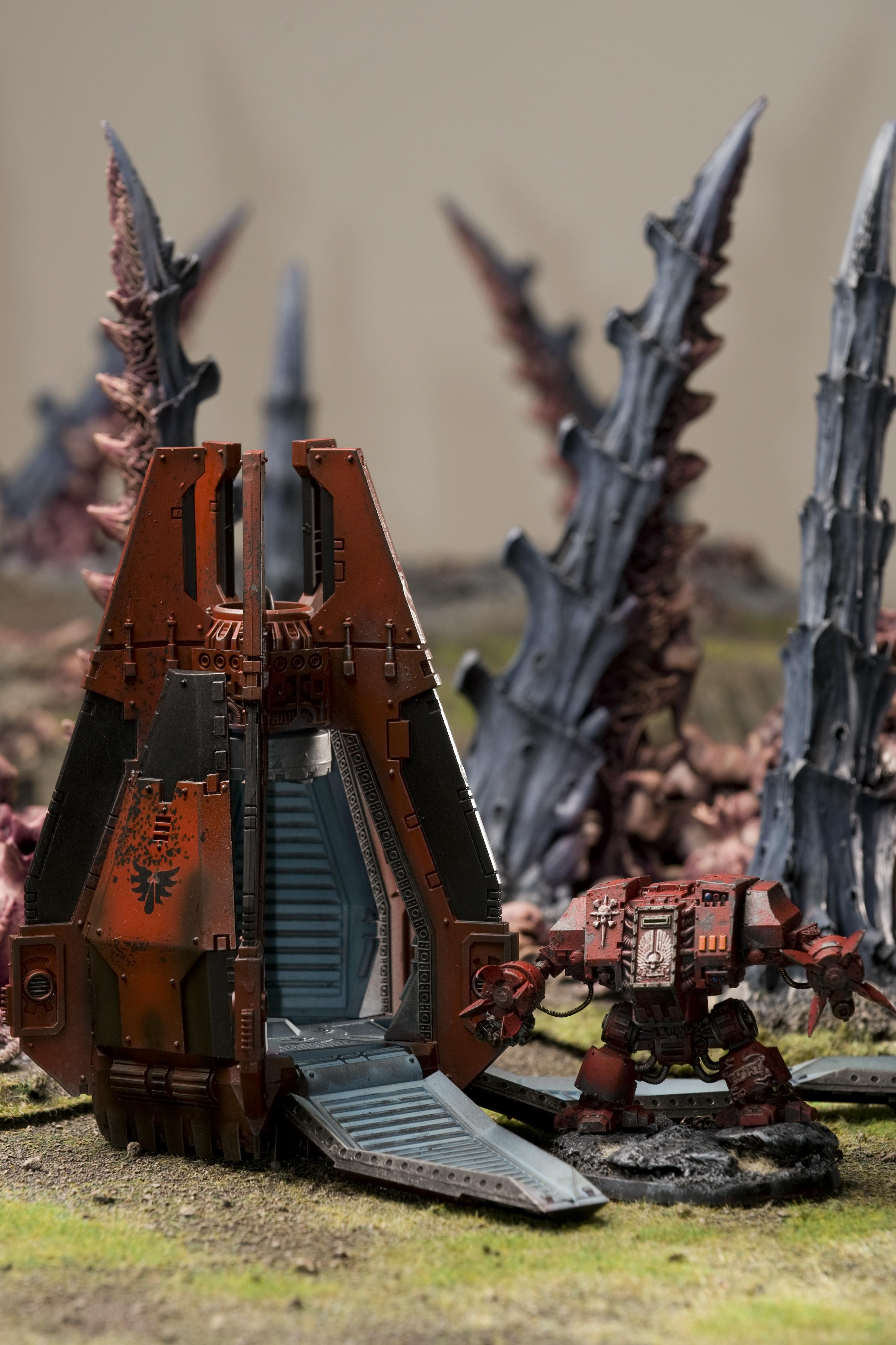 Blood Angels, Dreadnought, Drop Pod, Space Marines