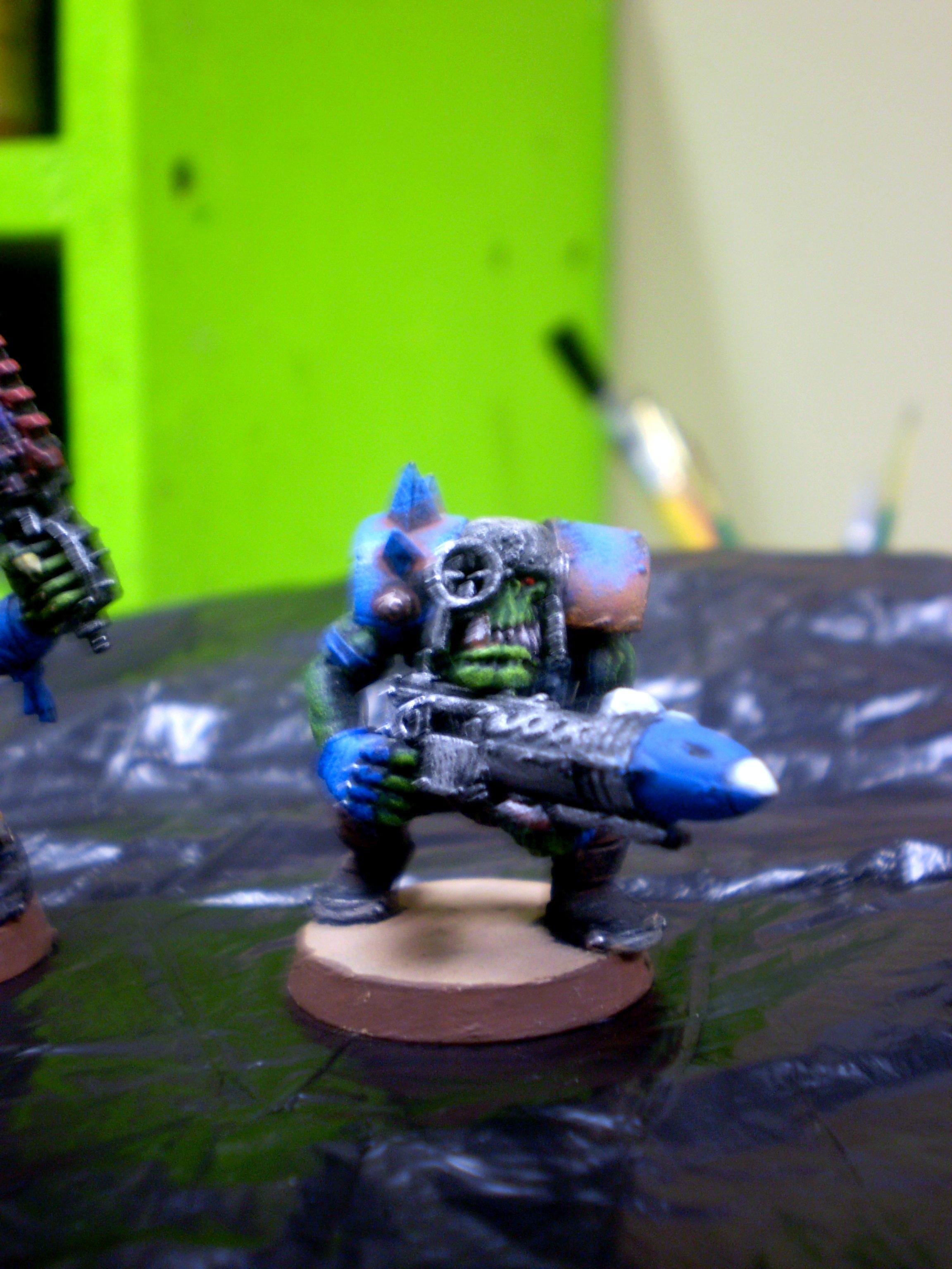 4ok, Blue, Orks, Ork Rokkit boy