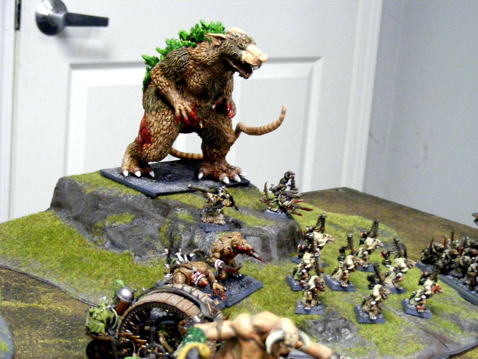 Abomination, Daemons, Godzilla, Massive, Painted, Skaven, Warhammer Fantasy