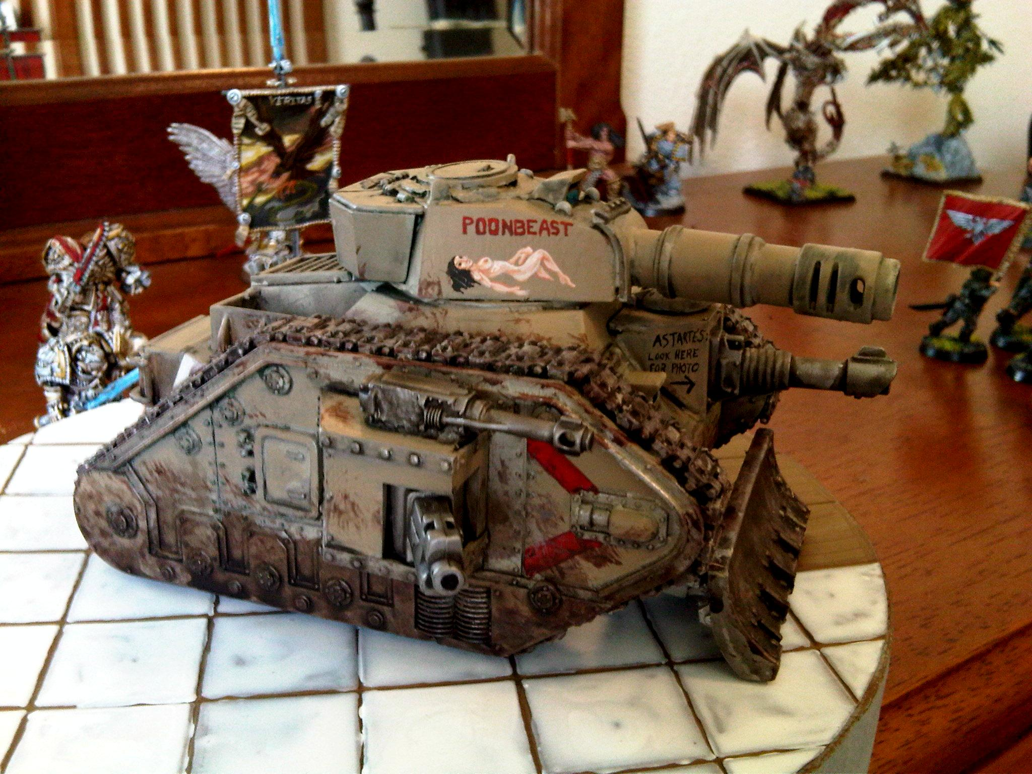 Freehand, Imperial Guard, Leman Russ, Nsfw, Nudity, Sexy, Tank