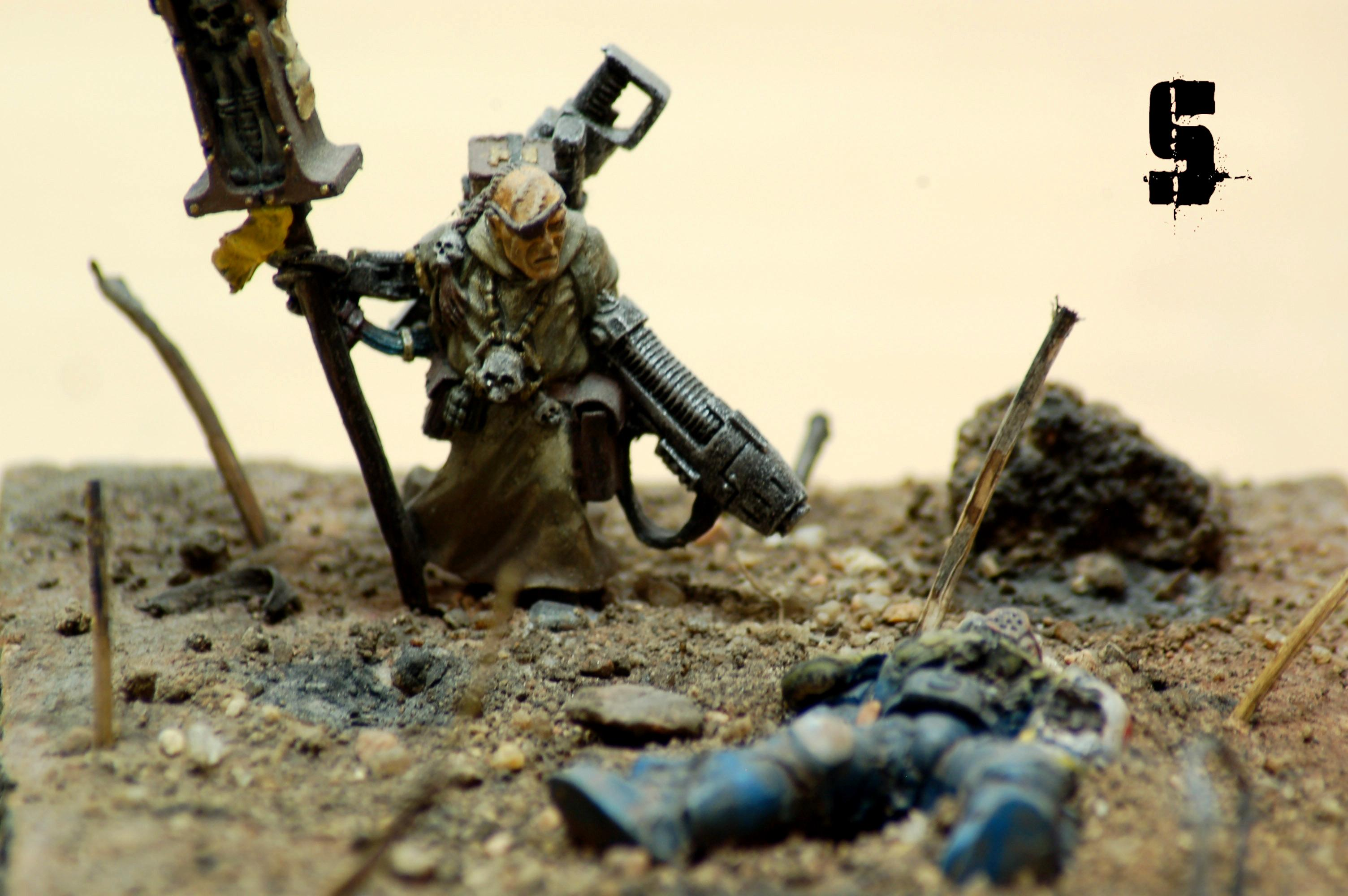 Diorama, Missionary, Old Battle, Saw