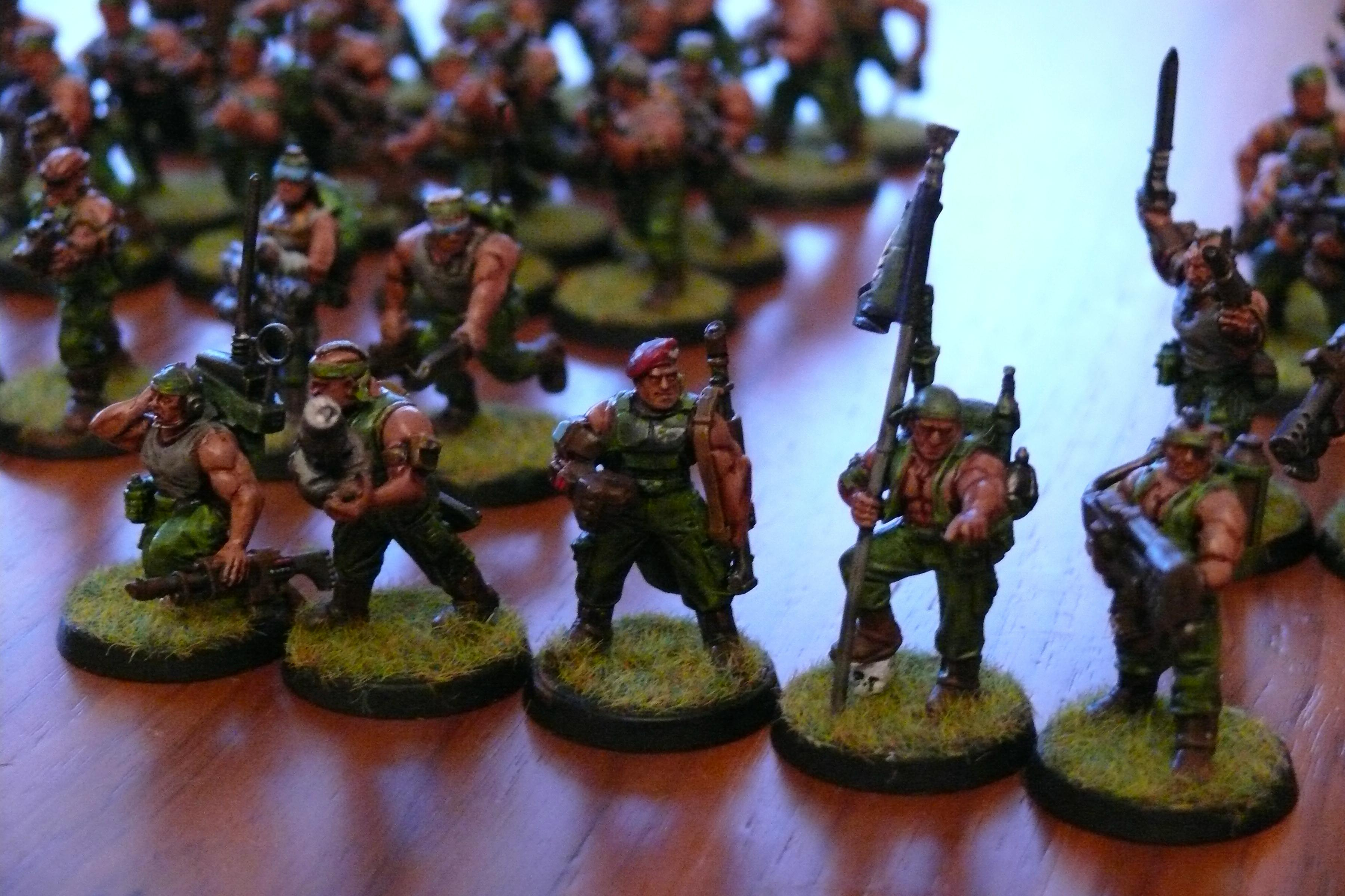 Catachan, Command Squad, Heavy Flamer, Imperial Guard