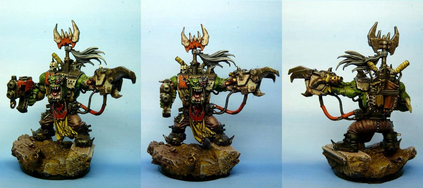 Armaggedon War, Orks, Power Klaw, Warboss, Warhammer 40,000