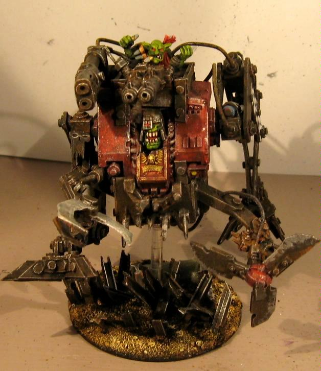 Big Shootas, Conversion, Dreadnought, Grots, Looted, Orks