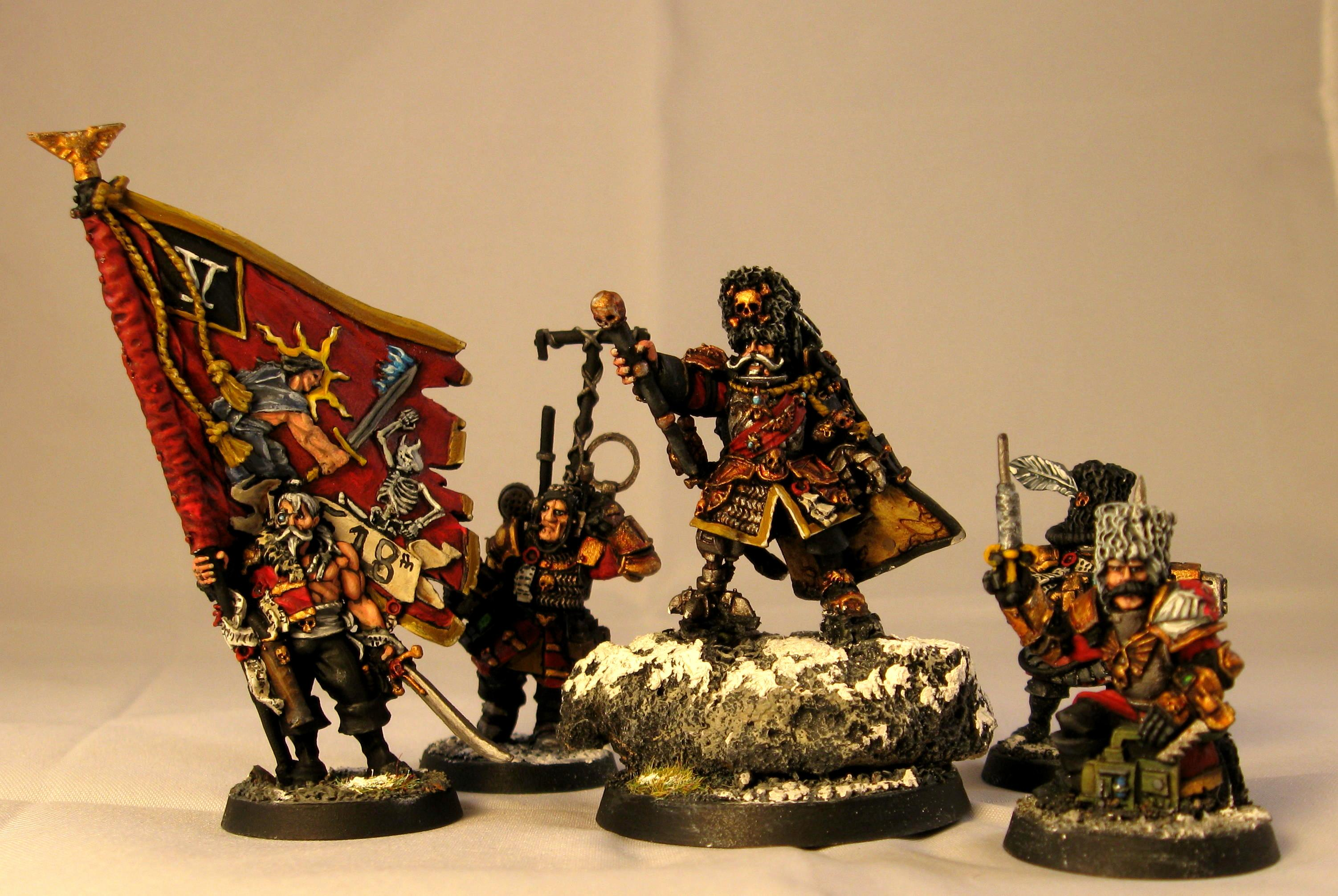Command Squad, Imperial Guard, Officer, Vostroyan