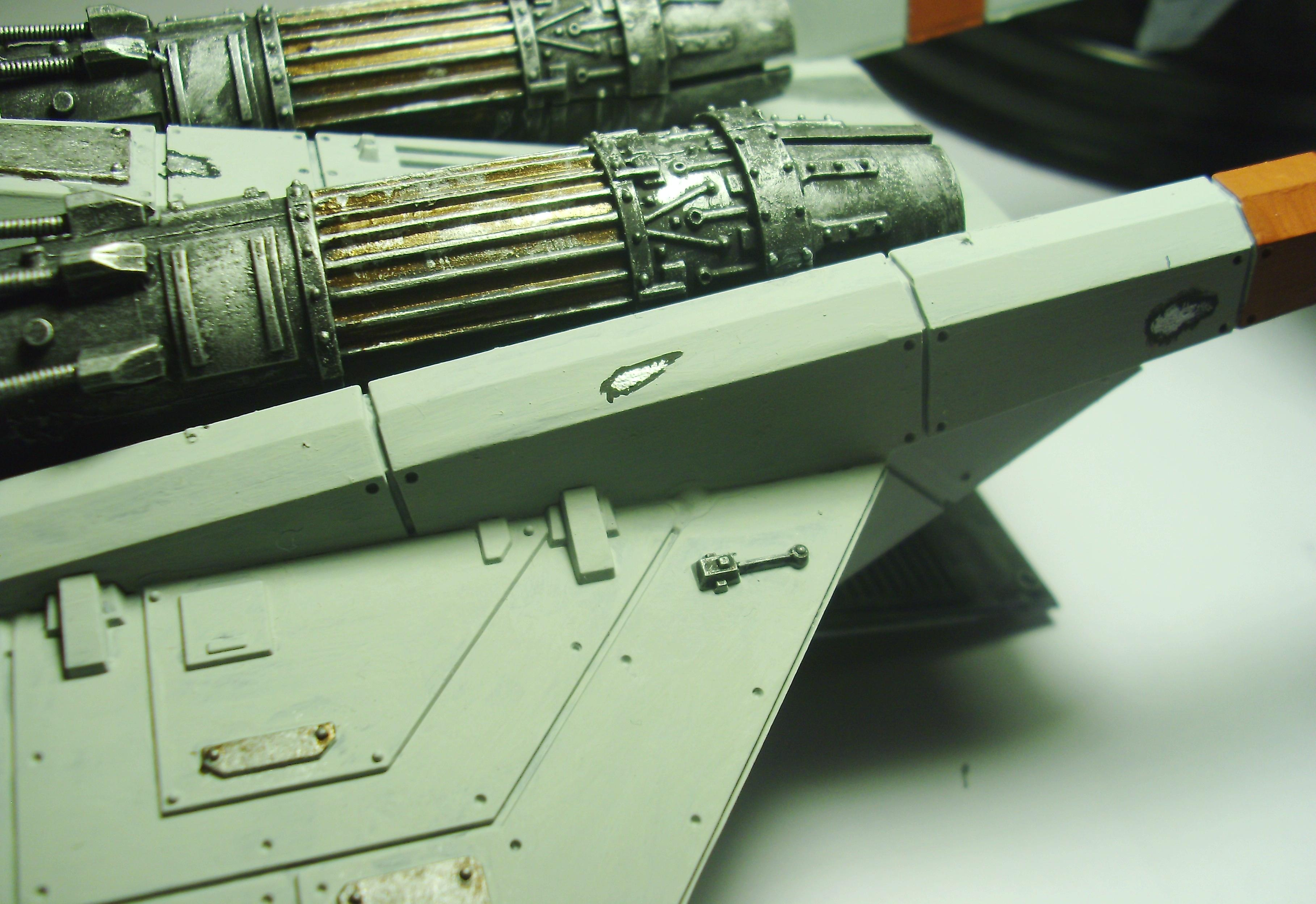 Battle Damage, Imperial Guard, Valkyrie, Weathered