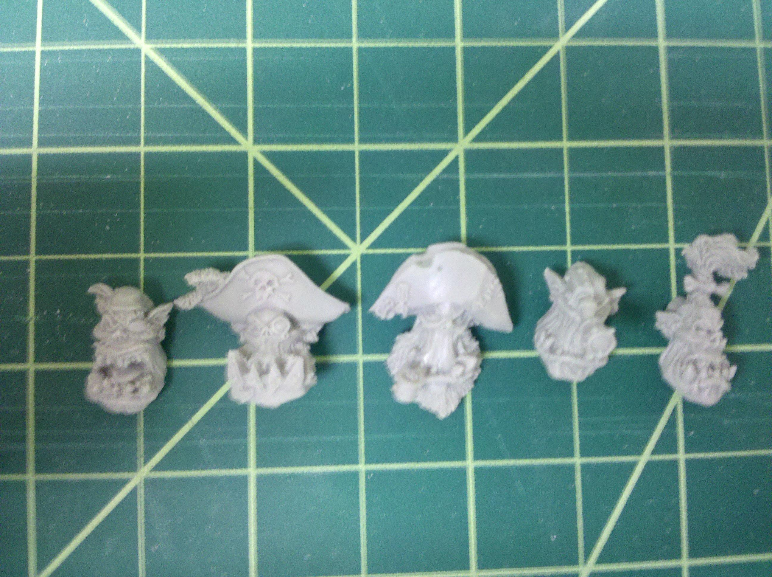 2nd Pack: Pirate Ork Heads!  from max mini